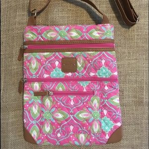 Stone Mountain Quilted Lockport Crossbody Purse